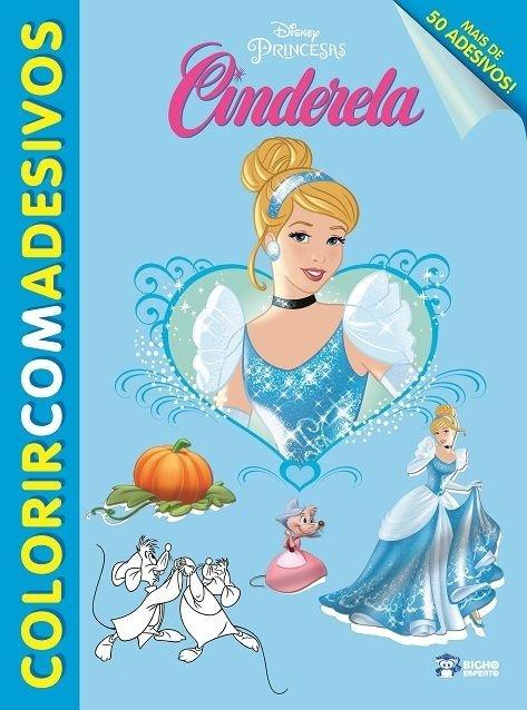 Imagem - Colorir com Adesivos Disney - Cinderela cód: 9788533939295