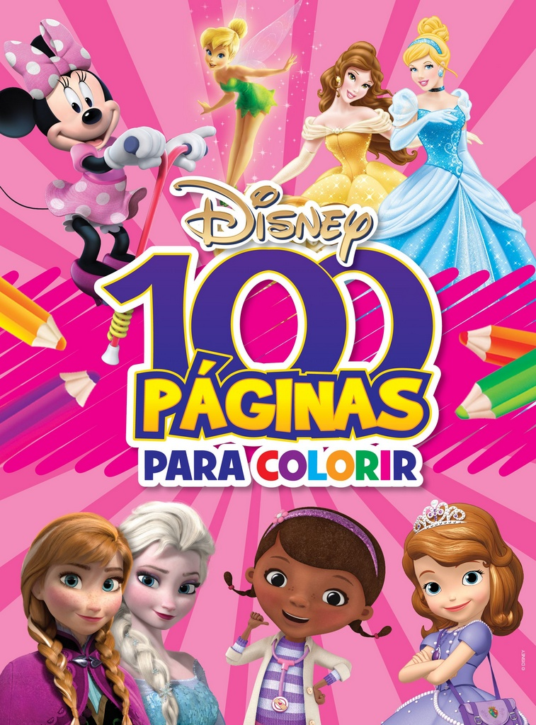 Imagem - 100 Páginas para Colorir Disney - Meninas cód: 9788533934016