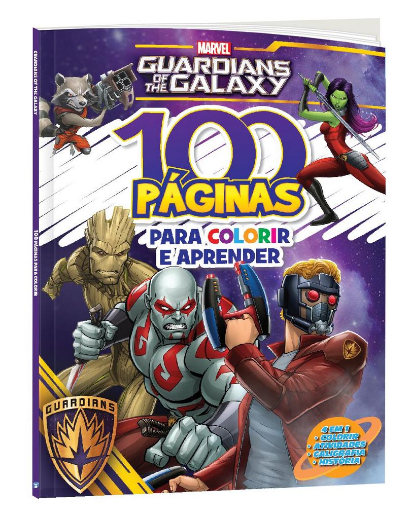 Imagem - 100 Páginas para Colorir Marvel - Guardiões da Galáxia cód: 9788533957329