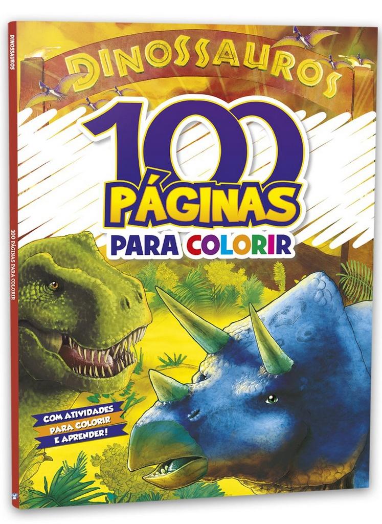 Imagem - 100 páginas para Colorir - Dinossauros - 9788533955837