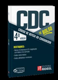 Imagem - Código de Defesa do Consumidor - CDC de bolso - 4ª edição cód: 9786557382127