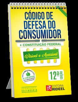 Imagem - Código de Defesa do Consumidor - Constituição Federal Visível e Acessível - 12ª edição cód: 9786557381281