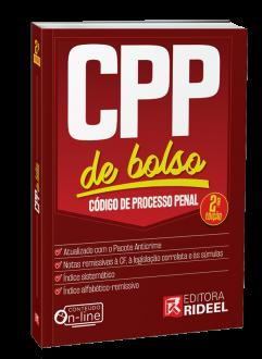 Imagem - Código de Processo Penal -  CPP de bolso - 2020 cód: 9788533958432