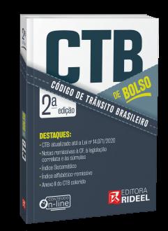 Imagem - Código de Trânsito Brasileiro - CTB de bolso - 2ª edição cód: 9786557382080