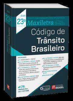Imagem - Código de Trânsito Brasileiro - MAXILETRA - Constituição Federal + Código + Legislação - 23ª edição cód: 9786557381670