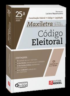 Imagem - Código Eleitoral - MAXILETRA - Constituição Federal + Código + Legislação - 9788533958548