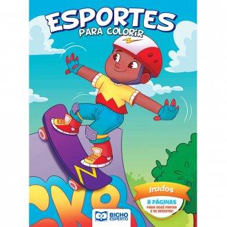 Imagem - Livro Para Colorir Esportes e Brincadeiras - Irados cód: 9786557381007