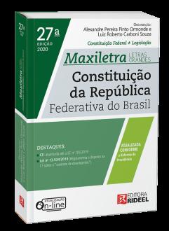 Imagem - Constituição da República Federativa do Brasil - MAXILETRA - Constituição Federal+Legislação - 2020 cód: 9788533958593