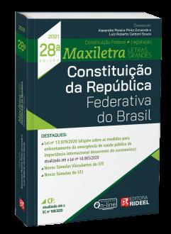 Imagem - Constituição da República Federativa - MAXILETRA - Constituição Federal + Código + Legislação - 28ª edição cód: 9786557382264