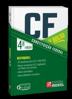 Imagem - Constituição Federal - CF de bolso - 4ª edição cód: 9786557382158