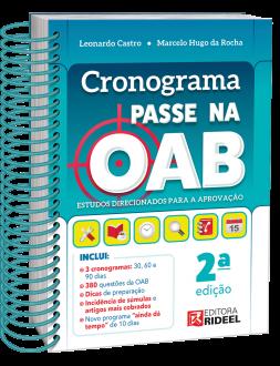 Imagem - Cronograma Passe na OAB: Estudos direcionados para aprovação 2ª edição cód: 9786557381793