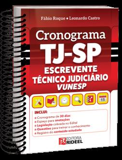 Imagem - Cronograma TJ-SP Escrevente Técnico Judiciário VUNESP cód: 9786557383964