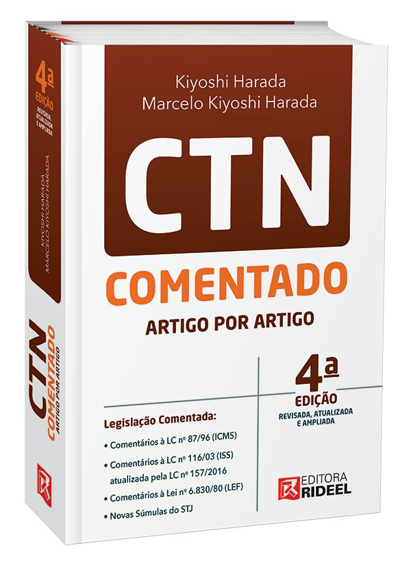 Imagem - CTN - Comentado Artigo por Artigo - 9788533954533