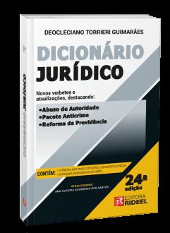 Imagem - Dicionário Jurídico - 24ª edição cód: 9788533958661