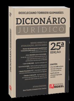 Imagem - Dicionário Jurídico - 25ª edição cód: 9786557382172