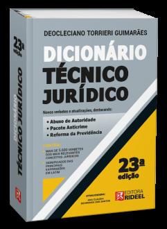Imagem - Dicionário Técnico Jurídico - 23ª edição cód: 9788533958678