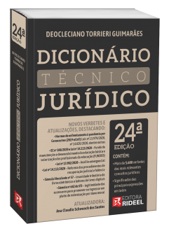 Imagem - Dicionário Técnico Jurídico - 24ª edição cód: 9786557382165
