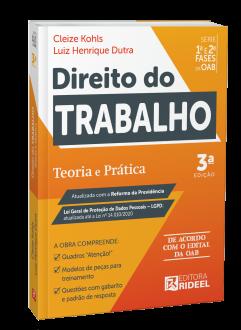 Imagem - Direito do Trabalho - Teoria e Prática 1ª e 2ª fases da OAB 3ª edição cód: 9786557381748