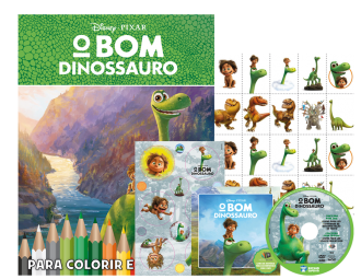 Imagem - Disney Kit 5 em 1 com DVD - O Bom Dinossauro cód: 9788533952171