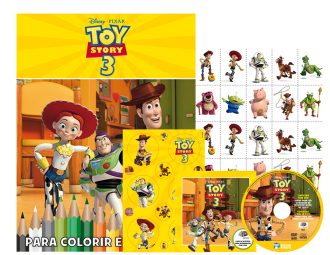 Imagem - Disney Kit 5 em 1 com DVD - Toy Story 3 cód: 9788533952201