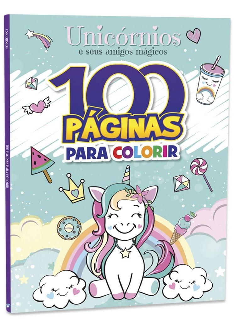 Imagem - 100 Páginas para Colorir - Unicórnios  cód: 9788533955820