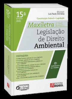 Imagem - Legislação de Direito Ambiental - MAXILETRA - Constituição Federal + Legislação cód: 9788533958616