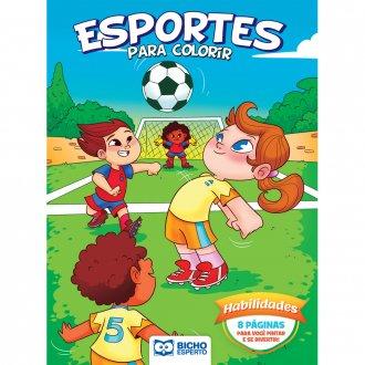 Imagem - Livro Para Colorir Esportes e Brincadeiras - Habilidades cód: 9786557380994