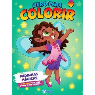 Imagem - Livro Para Colorir - Fadinhas Mágicas cód: 9798533903783