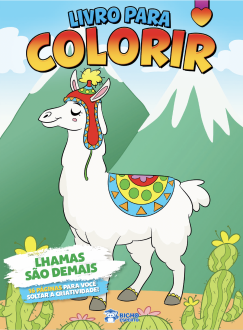 Imagem - Livro Para Colorir - Lhamas São Demais cód: 9786557380710