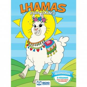 Imagem - Livro Para Colorir Unicórnios e Lhamas - Animadas cód: 9786557381014