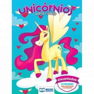 Imagem - Livro Para Colorir Unicórnios e Lhamas - Encantados cód: 9786557381038