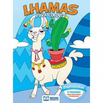 Imagem - Livro Para Colorir Unicórnios e Lhamas - Engraçadas cód: 9786557381021