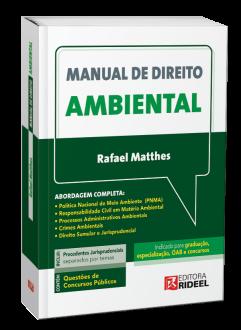 Imagem - Manual de Direito Ambiental - 1ª edição cód: 9788533958241