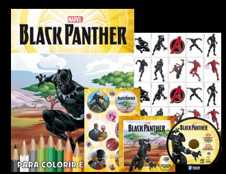 Imagem - Marvel Kit 5 em 1 com DVD - Pantera Negra cód: 9788533952294