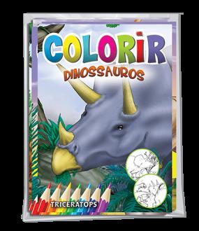 Imagem - Solapa Média Colorir (Pct 08 livros) - Dinossauros - 9788533959200