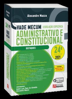 Imagem - Vade Mecum Administrativo e Constitucional - Legislação Específica - 24ª edição cód: 9786557384213