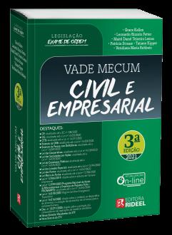 Imagem - Vade Mecum Civil e Empresarial - Legislação Exame de Ordem 3ª edição cód: 9786557381557