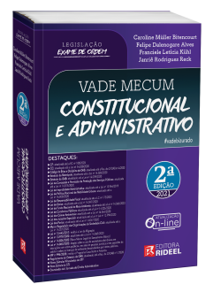 Imagem - Vade Mecum Constitucional e Administrativo - Legislação Exame de Ordem - 2ª edição - 9786557381540