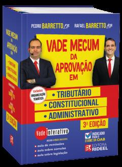 Imagem - Vade Mecum da Aprovação em: Tributário, Constitucional e Administrativo - 3ª edição cód: 9788533958845