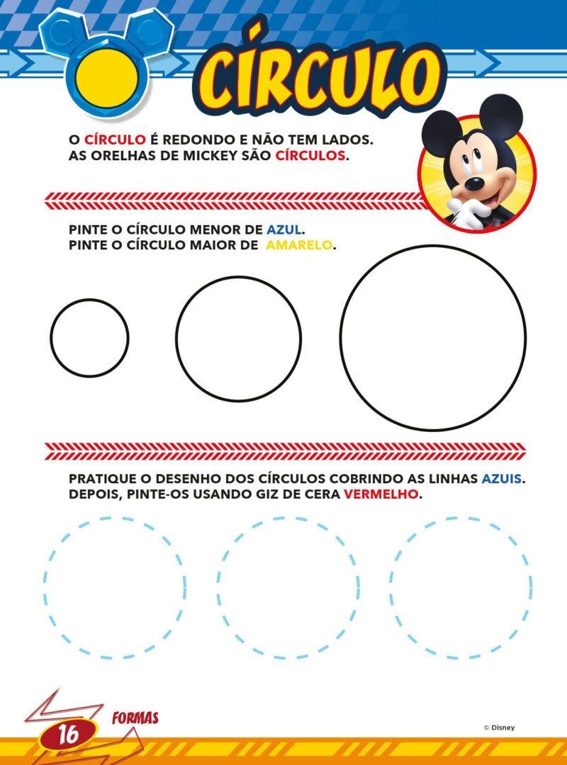 Atividades Educativas Disney - Cores e Formas 4