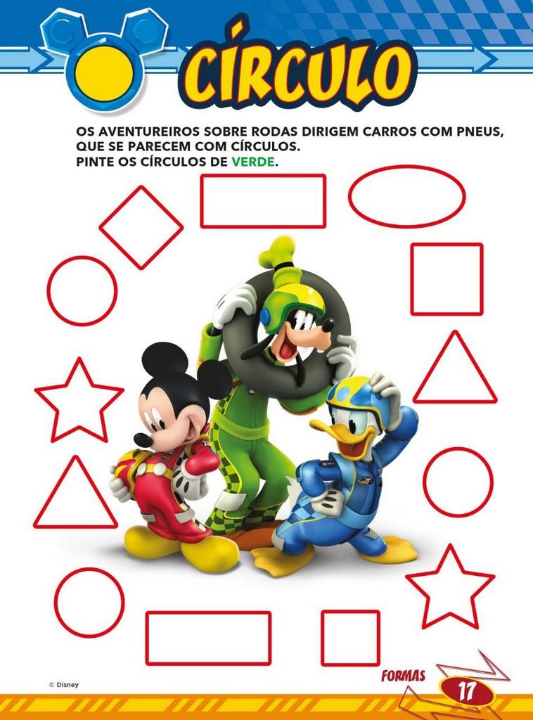Atividades Educativas Disney - Cores e Formas 3