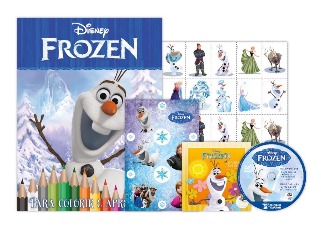 Kit 5 em 1 com DVD Disney - Olaf