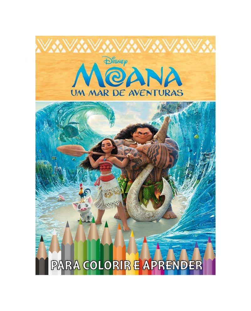 Disney Kit 5 em 1 com DVD - Moana 2