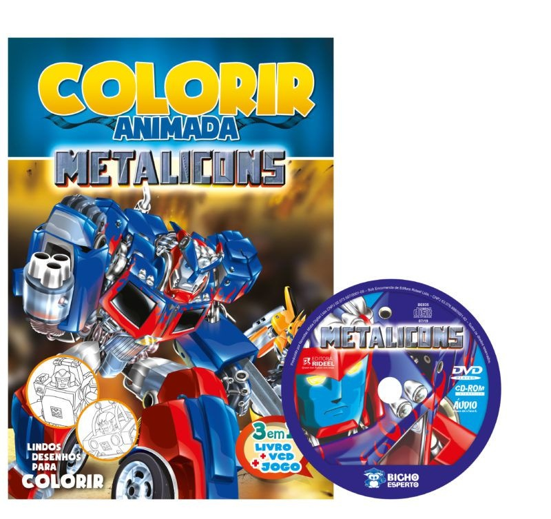 Colorir Animada - Metalicons 2