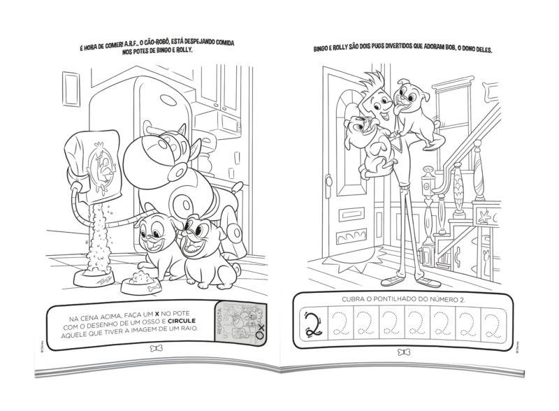 Colorir e Aprender Disney - Bingo e Rolly 2