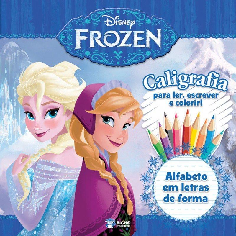 Caligrafia Frozen - Alfabeto em Letras de Fôrma
