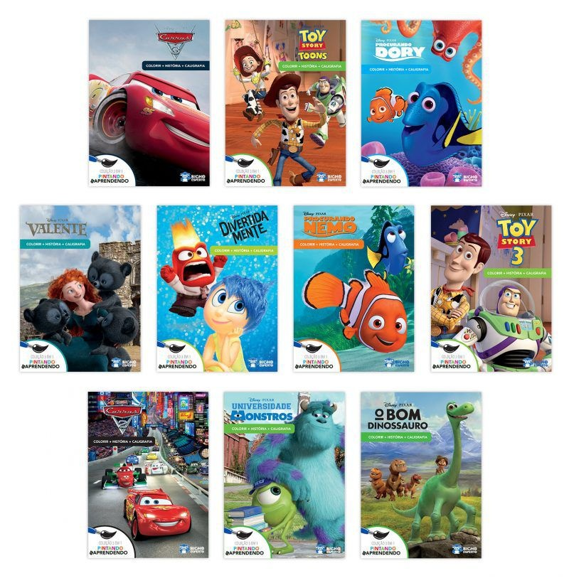 Solapa Média Colorir Disney (Pct 10 livros) - Pixar 2