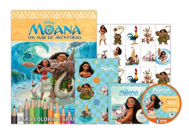 Disney Kit 5 em 1 com DVD - Moana