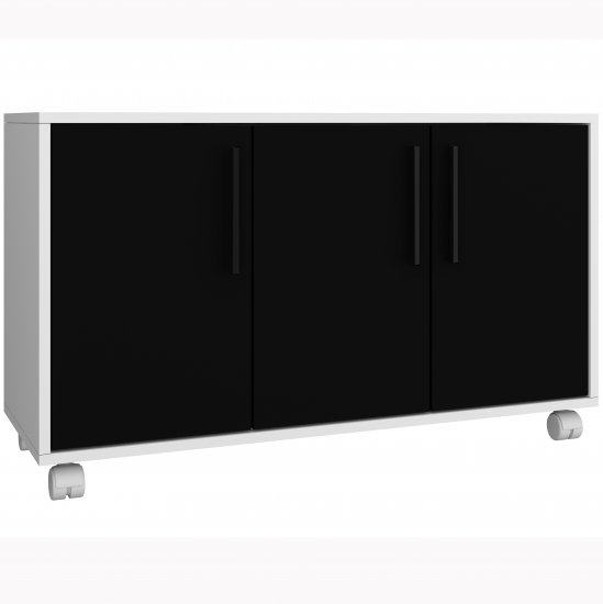 Cabinet with 3 doors BHO25 - BRV - Black/White