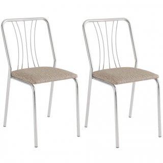 Cadeiras de Jantar 4 pçs CA8264 Cromada - Pozza